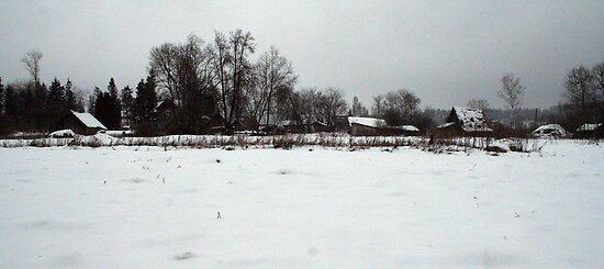 In winter 2 - village Kalveliai by Antanas