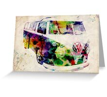 Camper Van Urban Art Greeting Card
