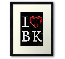 I Love Brooklyn, BK Framed Print