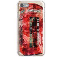 London Telephone Box Urban Art iPhone Case/Skin