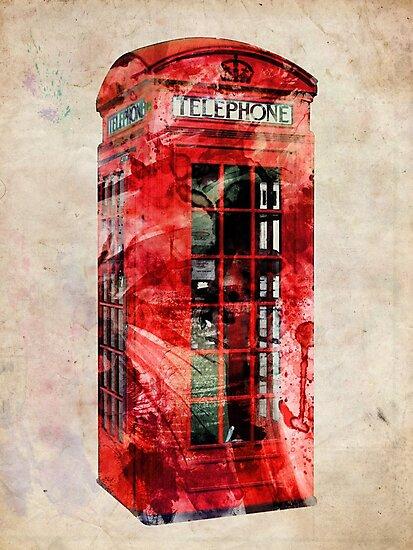 London Telephone Box Urban Art by Michael Tompsett