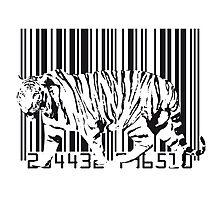 Tiger Barcode Photographic Print