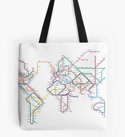 World Tube Metro Map Tote Bag