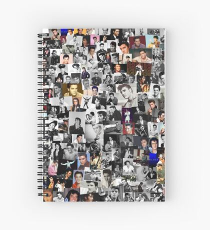 Elvis presley collage Spiral Notebook