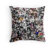 Elvis presley collage Throw Pillow