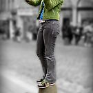 Busking at the Fringe by Smurfesque