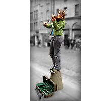 Busking at the Fringe Photographic Print