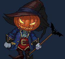 Jack-o-lantern in a hat by kylmaviha