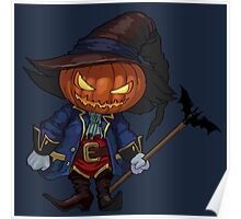 Jack-o-lantern in a hat Poster