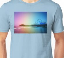 Santa Monica Pier Rainbow Colors Unisex T-Shirt