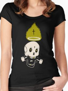 SKULL CROSSES Women's Fitted Scoop T-Shirt