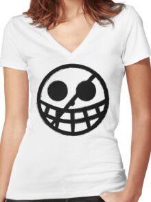 Doflamingo Jolly Roger Women's Fitted V-Neck T-Shirt