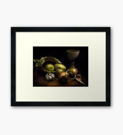 Still Life with Vegetables Framed Print