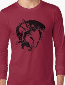 Alien Black & White Long Sleeve T-Shirt