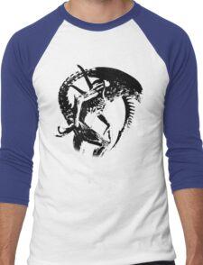 Alien Black & White Men's Baseball ¾ T-Shirt