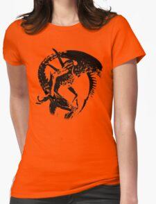 Alien Black & White Womens Fitted T-Shirt
