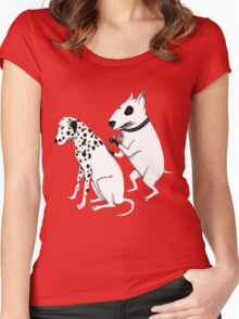 Pittbul tattooing Dalmatian Women's Fitted Scoop T-Shirt