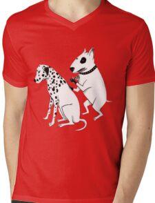Pittbul tattooing Dalmatian Mens V-Neck T-Shirt