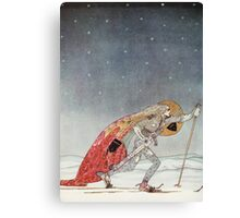 'So the man gave him a pair of snow shoes' Canvas Print