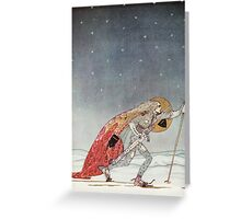'So the man gave him a pair of snow shoes' Greeting Card