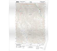 USGS Topo Map Oregon Jim Creek Butte 20110627 TM Poster