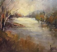 Winter light Werribee river (Australia) by Ivana Pinaffo
