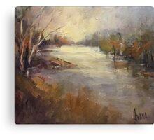 Winter light Werribee river (Australia) Canvas Print