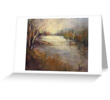 Winter light Werribee river (Australia) Greeting Card