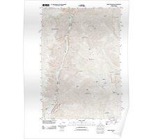 USGS Topo Map Idaho White Monument 20110627 TM Poster