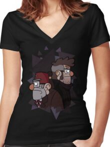 The Original Mistery Twins Women's Fitted V-Neck T-Shirt