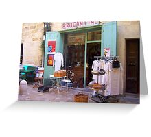 Secondhand Shop in Uzes Greeting Card