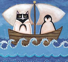 Sailor Cat & Penguin by Ryan Conners