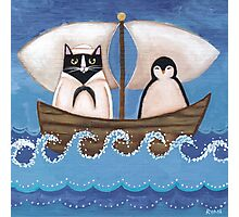Sailor Cat & Penguin Photographic Print