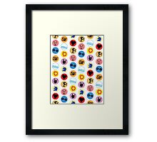 Library Geek - Library stickers Framed Print