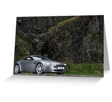 V8 Vantage Shot on Location in Cheddar Gorge ... Greeting Card