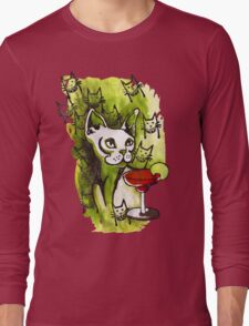 Emerald Cats with Margarita Long Sleeve T-Shirt