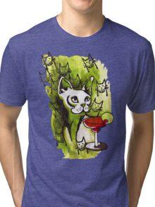 Emerald Cats with Margarita Tri-blend T-Shirt