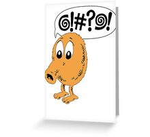 Retro Video Game Qbert T-Shirt Greeting Card