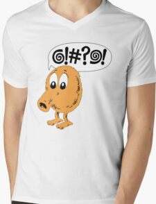 Retro Video Game Qbert T-Shirt Mens V-Neck T-Shirt