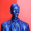 Blue Man On Red by SuddenJim