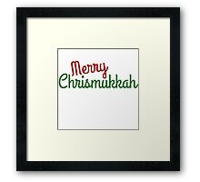 Merry Chrismukkah  Framed Print