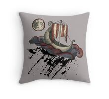 Lunar Viking Voyage Throw Pillow