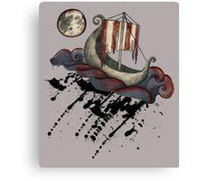 Lunar Viking Voyage Canvas Print