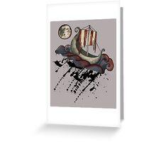 Lunar Viking Voyage Greeting Card