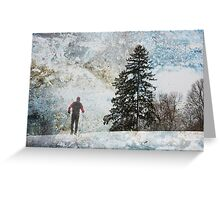 XC Skiing  Greeting Card