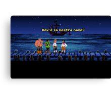 Dov'è la nostra nave? (Monkey Island 1) Canvas Print