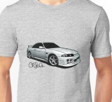 Nissan Skyline R33 Series 2 Sketch Unisex T-Shirt