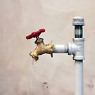Faucet, Red Handle by SuddenJim