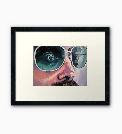 ::: Pete the Trucker (Detail) ::: Framed Print