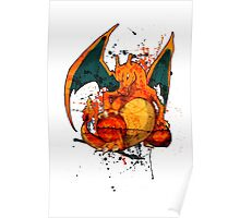 Pokemon - Charizard Splatter Poster